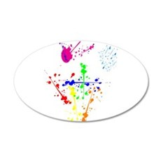 Colorful Splatter Wall Decal