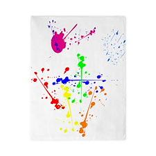 Colorful Splatter Twin Duvet