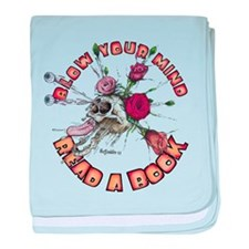 Blow Your Mind Read A Book baby blanket