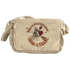 Blow Your Mind Read A Book Messenger Bag