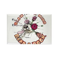 Blow Your Mind Read A Book Rectangle Magnet