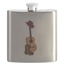 Cute Cowboy fan Flask