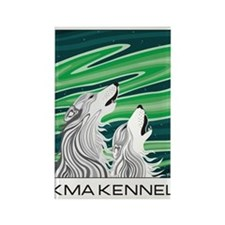 Howling Aurora Huskies Magnets