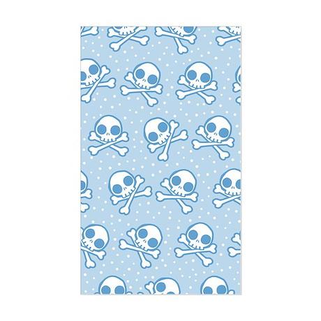 Cute Blue Skulls Sticker (Rectangle)