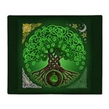 Celtic tree of life Blankets