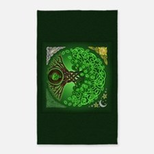 Circle Celtic Tree of Life 3'x5' Area Rug
