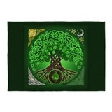 Celtic tree of life Area Rugs