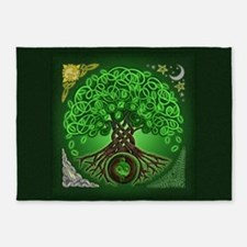 Circle Celtic Tree of Life 5'x7'Area Rug