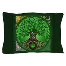 Circle Celtic Tree of Life Pillow Case