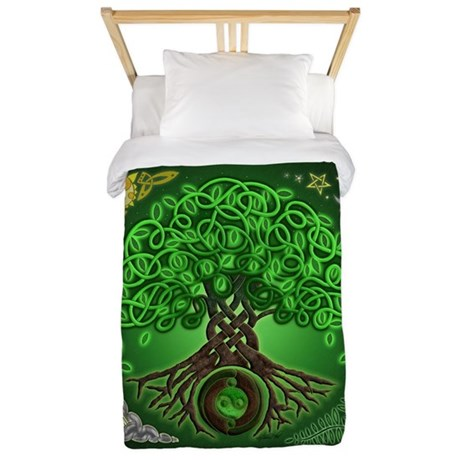 Circle Celtic Tree of Life Twin Duvet Cover