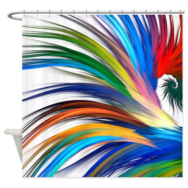 colorful abstract shower curtain by bestshowercurtains