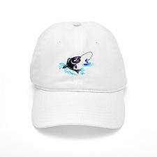 fish on line Baseball Baseball Cap