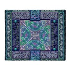 Celtic Atlantis Opal Throw Blanket