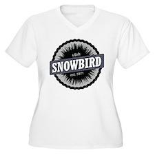 Snowbird Ski Resort Utah Black Plus Size T-Shirt