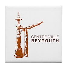Centre Ville Beyrouth Tile Coaster