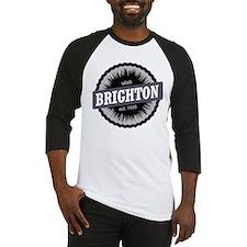 Brighton Ski Resort Utah Black Baseball Jersey