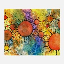 Primordial Suns 2 Throw Blanket