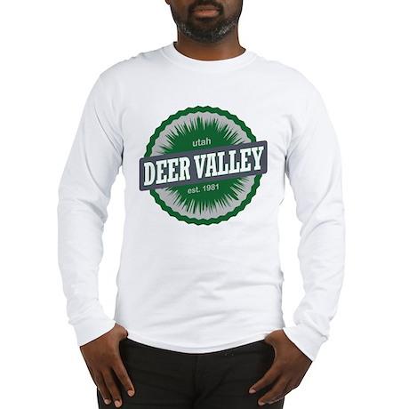 Deer Valley Ski Resort Utah Green Long Sleeve T-Sh