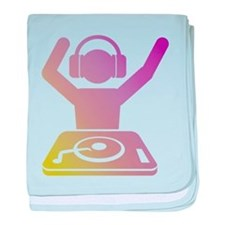Colorful DJ baby blanket