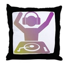 Colorful DJ Throw Pillow