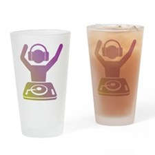 Colorful DJ Drinking Glass