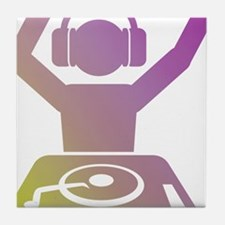 Colorful DJ Tile Coaster
