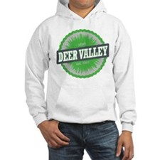 Deer Valley Ski Resort Utah Lime Green Hoodie