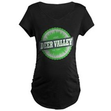 Deer Valley Ski Resort Utah Lime Green Maternity T