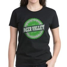Deer Valley Ski Resort Utah Lime Green T-Shirt