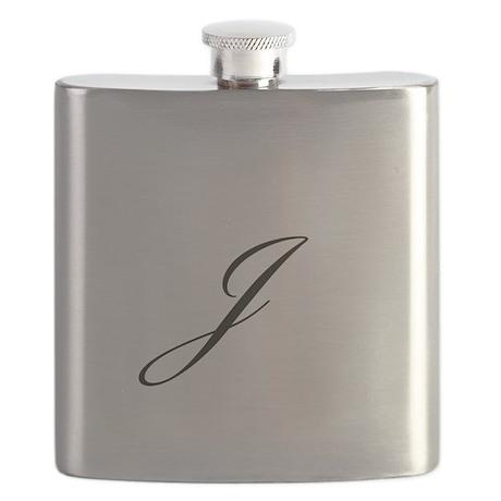 Bickham Script Monogram J Flask