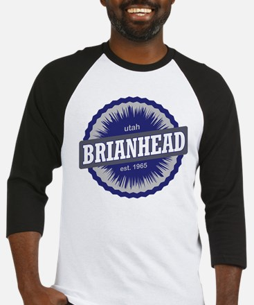 Brian Head Ski Resort Utah Blue Baseball Jersey