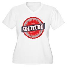 Solitude Ski Resort Utah Red Plus Size T-Shirt