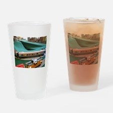 Lighted Trains On Tracks Drinking Glass