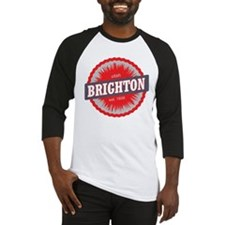 Brighton Ski Resort Utah Red Baseball Jersey