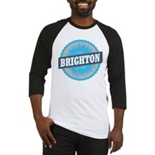 Brighton Ski Resort Utah Sky Blue Baseball Jersey