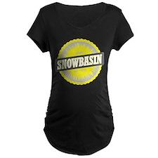 Snowbasin Ski Resort Utah Yellow Maternity T-Shirt