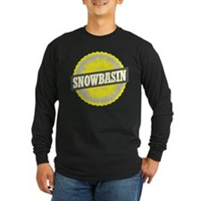 Snowbasin Ski Resort Utah Yellow Long Sleeve T-Shi