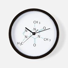 Caffeine Molecule Wall Clock