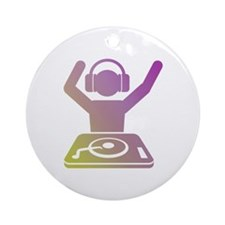 Colorful DJ Ornament (Round)