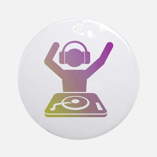 Colorful DJ Ornament (Round)