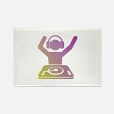 Colorful DJ Rectangle Magnet