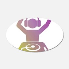 Colorful DJ Wall Decal