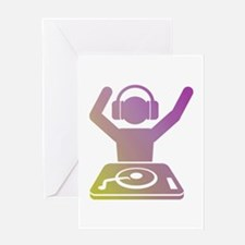 Colorful DJ Greeting Card