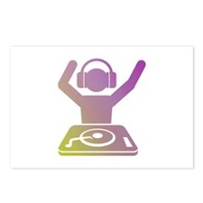 Colorful DJ Postcards (Package of 8)