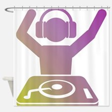 Colorful DJ Shower Curtain