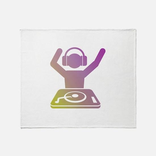 Colorful DJ Throw Blanket