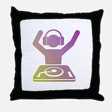 Colorful DJ Throw Pillow