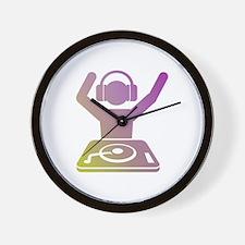 Colorful DJ Wall Clock