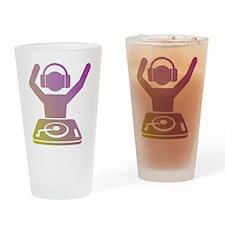 Colorful DJ Drinking Glass