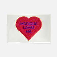 Monique Loves Me Rectangle Magnet